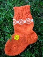 Tulentallojat lasten sukat, oranssi