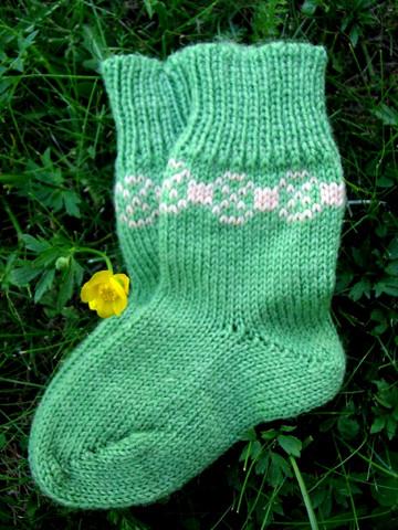 Tulentallojat lasten sukat, vihreä