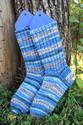 Keskipaksut villasukat
