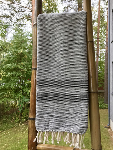 Handloomed hammam-towel Anatolia Grey