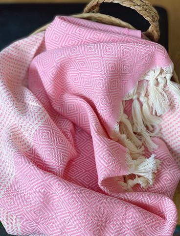 Timantti Stripe Hamam-pyyhe Vaaleanpunainen