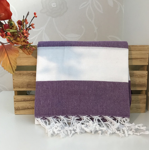 Sunset Hammam-towel Purple-White