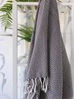 CRYSTAL Handloomed  Hammam Towel Black