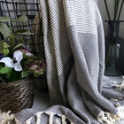 Diamond Stripe Hammam Towel Anthracite