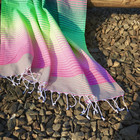 Beach Rainbow Hammam Towel Pink