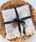 Jacquard Hammam Towel Baroque Light Grey