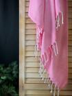 Crystal Handvävda Hamam Handduk Candy Pink
