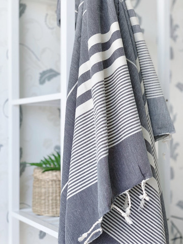 Aegean Hammam Towel Grey