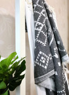 Jacquard Hammam Towel Rug Dark Grey