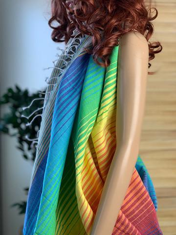Beach Rainbow Hammam Towel Blue