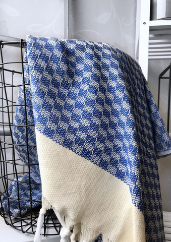 Artemis Handloomed Hammam Towel Royal Blue