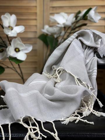 Sultan Slim Hammam Towel Grey Beige