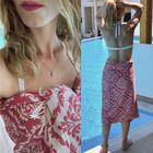 Jacquard Hammam Towel Baroque Red