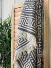 Jacquard Hamam Handduk Greek Svart
