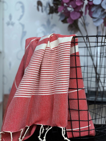 Aegean Hammam Towel Red