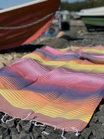 Beach Rainbow Hamam Handduk Orange
