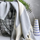 Diamond Hammam Towel Light Grey