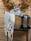 Diamond Hammam Towel Light Grey