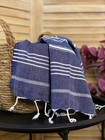 Hand/Face Hammam Towel Sultan Denim Blue
