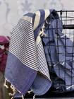 Aegean Hamam Handduk Denim Blå