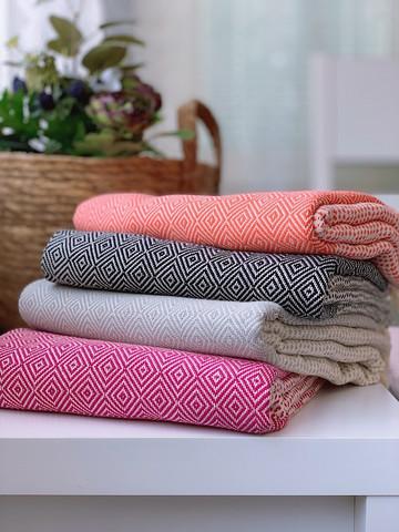 Diamond Stripe Hammam Towel Set 4 pcs