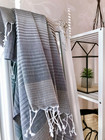 Beach Rainbow Hammam Towel Grey