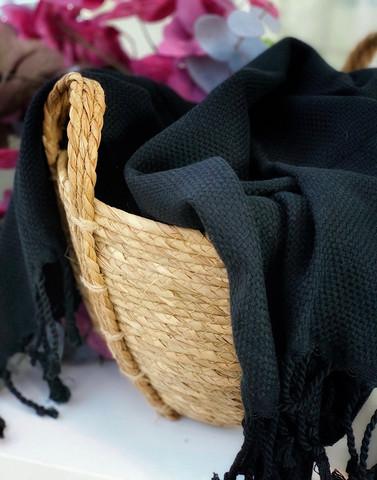 Ephesus Hammam Towel Black