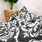 Jacquard Hammam Towel Baroque Black
