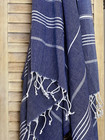 Sultan Hammam Towel Denim Blue