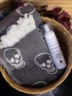 Jacquard Skull Hamam Handduk & Tvål Paket