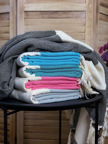 Chevron Hammam Towel Set 5 pcs