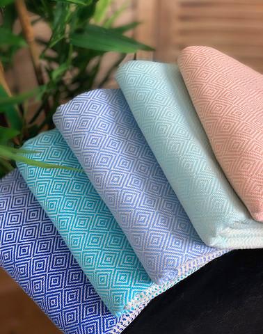 Diamond Stripe Hamam Handduk Paket 5 pcs