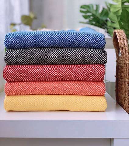Diamond Stripe Hammam Towel Set 5 pcs