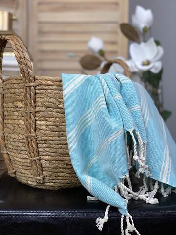Sultan Slim Hamam Små handduk Aqua