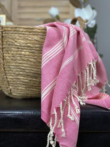 Sultan Slim Hamam Små handduk Hot Pink