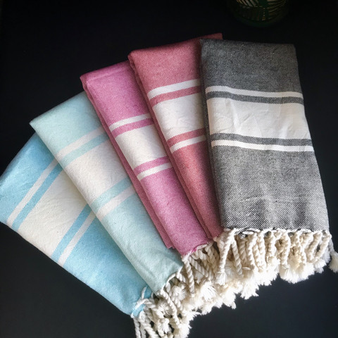 Kavala Handloomed Hammam Hand Towel Set 5 pcs