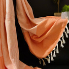 Diamond Stripe Hamam Handduk Orange