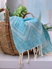 Oriental Hammam Hand Towel Hand-loomed Turquoise
