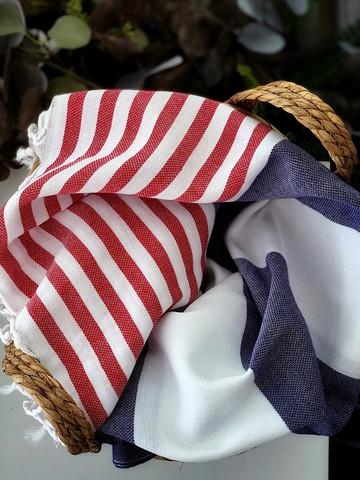Surf Hammam Towel Denim-Red