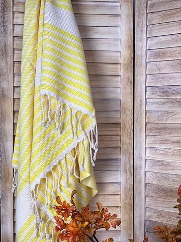 Afrodite Hamam-pyyhe Keltainen