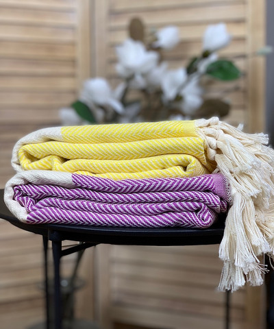 Chevron Hammam Towel Set 2 pcs
