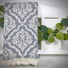 Jacquard Hammam Towel Baroque Grey