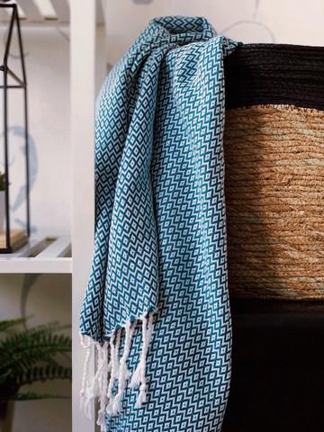 CRYSTAL Hammam-Towel Handloomed Petrol Green