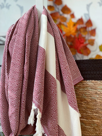 Diamond Hammam Towel Plum