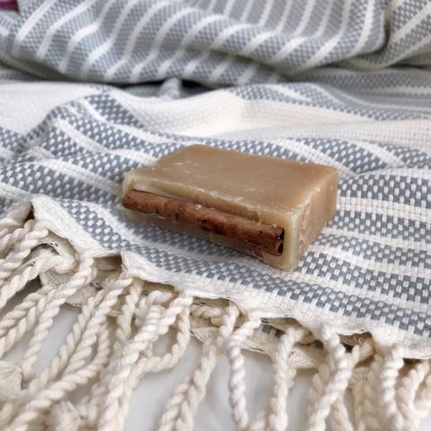 Afrodite Hammam Towel Olive Oil Soap Set