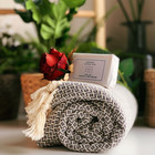Crystal Hammam Towel & Hand made Olive Oil Soap set