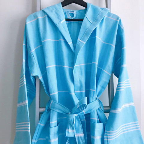 Hammam Bathrobe Light Turquoise S/M