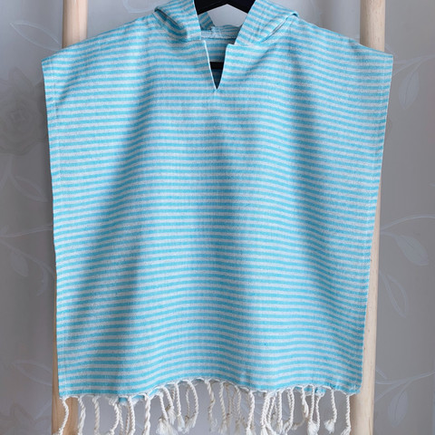 Kids' Hammam Poncho Turquoise size S