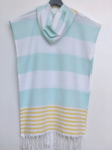 Kids' Poncho size S Surf Mint