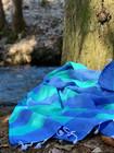 Sunset Hammam Towel Ocean Blue-Mint